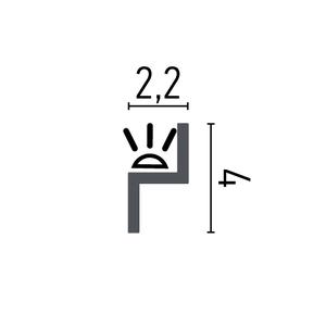 Grand Decor  KH902 (40 x 22 mm), HDPS,  lengte 2 m