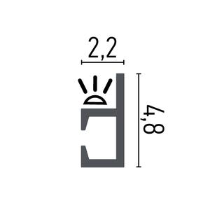 Grand Decor  KH903 (48 x 22 mm), HDPS,  lengte 2 m