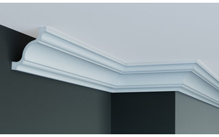 Grand Decor Plafondlijst P813 (80 x 80 mm), polyurethaan, lengte 2 m
