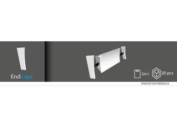 Vidella Eindkapjes voor Vidella LED1 sierlijsten (set à 2 stuks L + R)