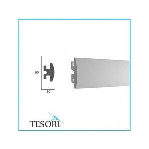 Tesori LED sierlijst voor indirecte verlichting XPS, KD305 (90 x50 mm), lengte 1,15 m