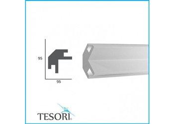 Tesori LED sierlijst voor indirecte verlichting XPS, KD203 (95 x 95 mm), lengte 1,15 m