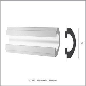 Tesori LED sierlijst voor indirecte verlichting XPS, KD112 (165 x 60 mm), lengte 1,15 m
