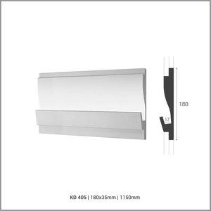 Tesori LED sierlijst voor indirecte verlichting XPS, KD405 (180 x 35 mm), lengte 1,15 m - Verzonken / Semi-Verzonken