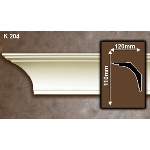 Grand Decor Kroonlijst K204 / P907 (110 x 120 mm), polyurethaan, lengte 2 m