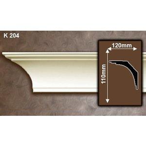 Grand Decor Kroonlijst P907 / K204 (110 x 120 mm), polyurethaan, lengte 2 m