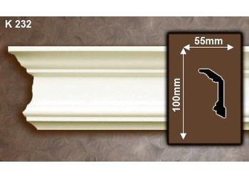 Grand Decor Kroonlijst K232 (100 x 55 mm), polyurethaan, lengte 2 m