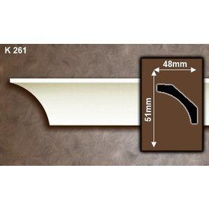 Grand Decor Kroonlijst K261 / P941 (51 x 48 mm), polyurethaan, lengte 2 m