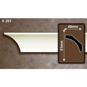 Grand Decor Kroonlijst P941 / K261 (51 x 48 mm), polyurethaan, lengte 2 m