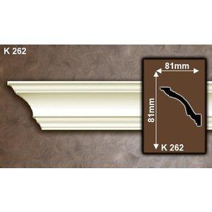 Grand Decor Kroonlijst K262 / P835 (81 x 81 mm), polyurethaan, lengte 2 m