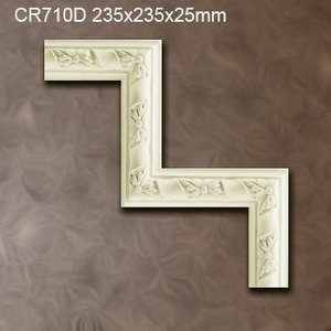 Grand Decor CR710D hoekbochten (235 x 235 mm), polyurethaan, set (4 hoeken)
