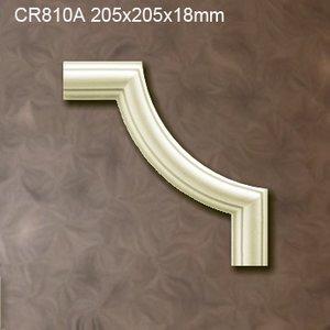 Grand Decor CR810A hoekbochten (205 x 205 mm), polyurethaan, set (4 hoeken)