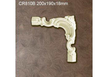 Grand Decor CR810B hoekbochten (200 x 190 mm), polyurethaan, set (4 hoeken)