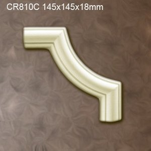 Grand Decor CR810C hoekbochten (145 x 145 mm), polyurethaan, set (4 hoeken)