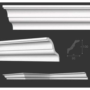 Vidella Plafondlijst, Sierlijst VX100 (95 x 100 mm), lengte 2 m