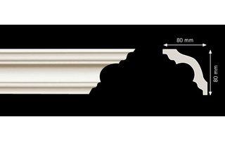 Homestar Sierlijsten K80 (80 x 80 mm), plafondlijst lengte 2 m