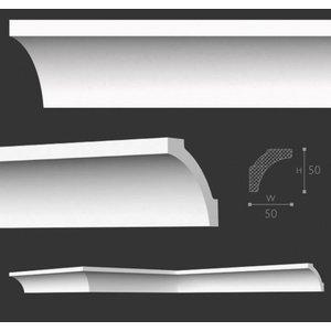 Homestar Sierlijsten plafond A7 (50 x 50 mm), plafondlijst lengte 2 m
