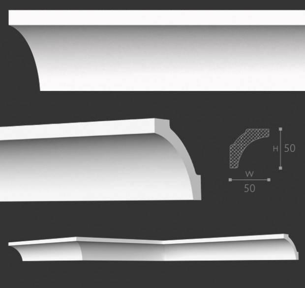 Betere Homestar Sierlijsten plafond A7 (50 x 50 mm), plafondlijst lengte 2 m TQ-47