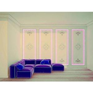 Art Décor Ornamenten A696 L/R polyurethaan wand, plafond (set à 4 stuks)