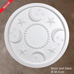 Grand Decor Rozet MOON AND STARS diameter 46,0 cm babykamer / kinderkamer