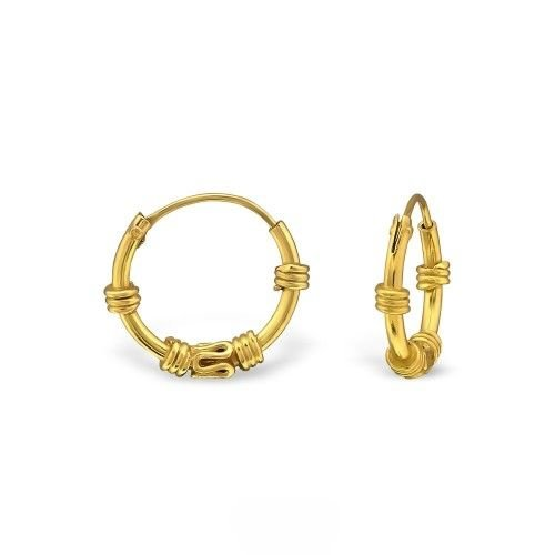 Oh So HIP Bali Hoops goud 12 mm