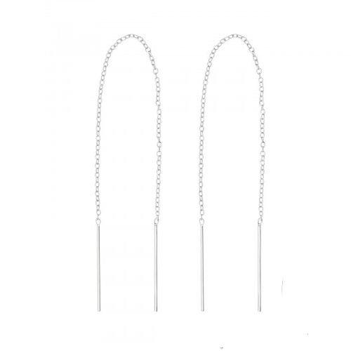 Oh So HIP Threader oorbellen 925 zilver 14 cm