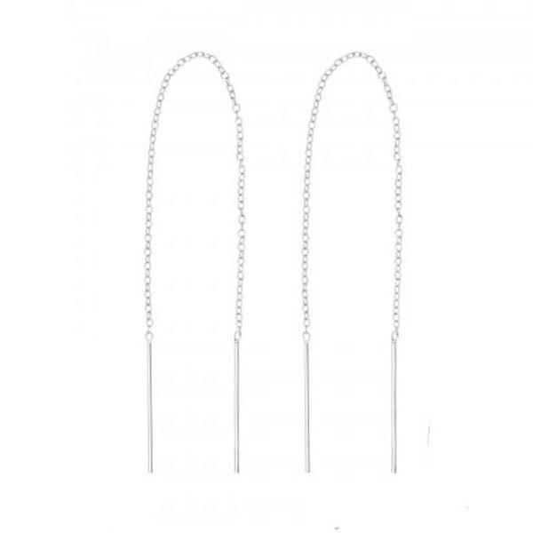 Oh So HIP Threader earrings zilver