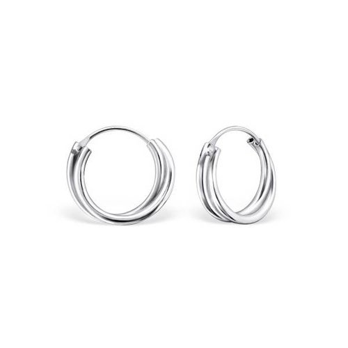 Oh So HIP Twisted hoop earrings zilver