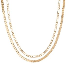 Club Manhattan Box Chain Choker kettingen set