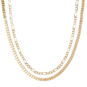 Club Manhattan Schakelkettingen Box Chain Choker set