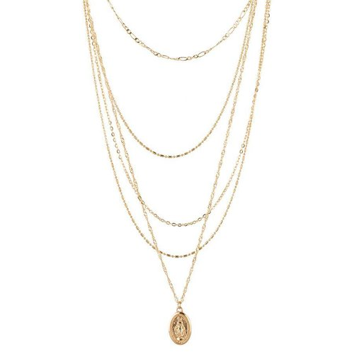 Club Manhattan Layered Amulet Necklace