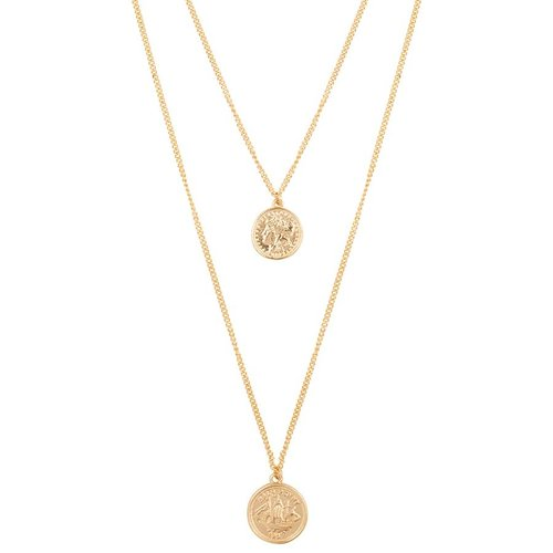 Club Manhattan Double Coin Necklace goud