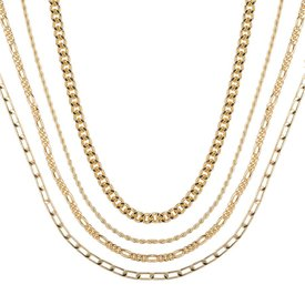 Club Manhattan Gold Dripping Necklace set