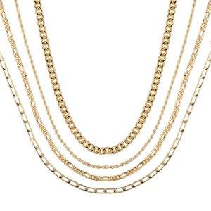 Club Manhattan Gold Dripping Necklace set