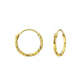 Oh So HIP Diamond Cut oorringen 12 mm goud