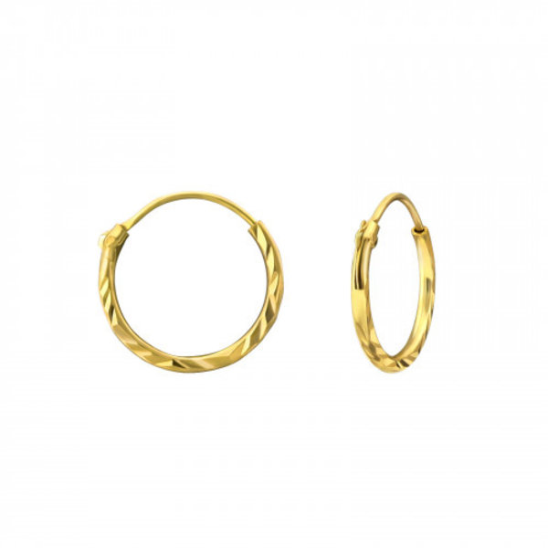 Oh So HIP Diamond Cut oorringen 12 mm goud