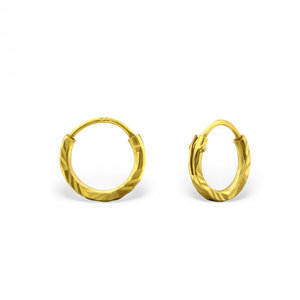 Oh So HIP Diamond Cut oorringen 8 mm gold plated