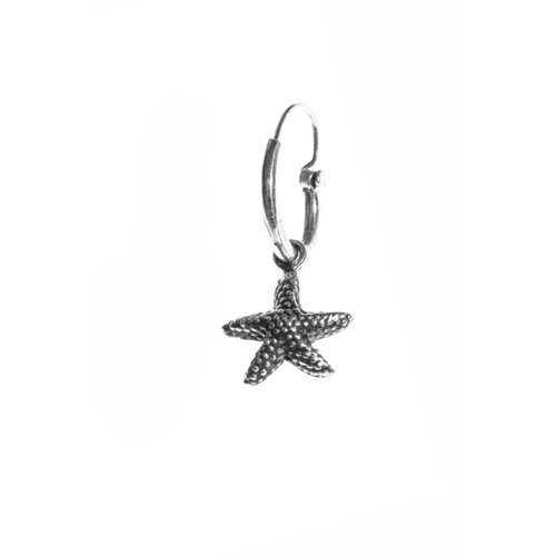Xzota One piece earring Seastar zilver