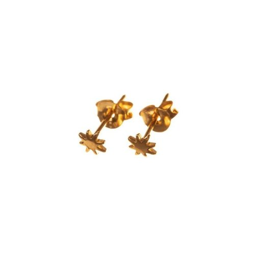 Xzota Tiny Star studs gold plated