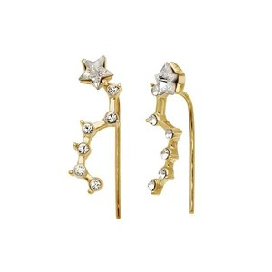 Oh So HIP Constellation ear climber gold plated