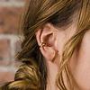 Suspender oorbellen goud