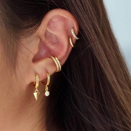 Oh So HIP Shiny Ear Cuff gold plated