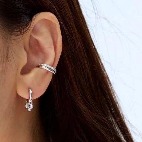 Oh So HIP Shiny Ear Cuff 925 zilver