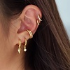 Shiny Ear Cuff zilver