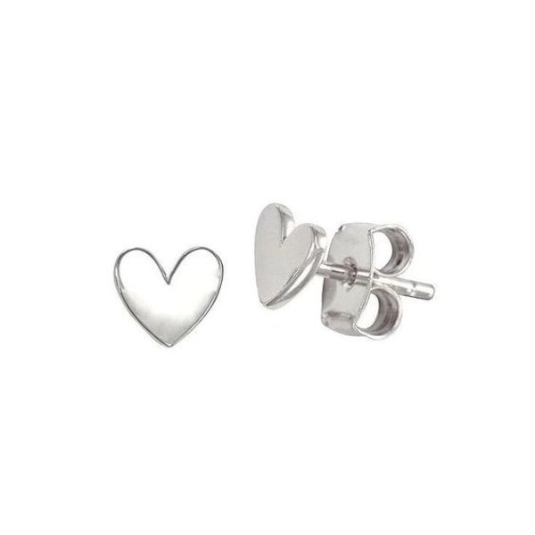 Oh So HIP Studs hartje zilver