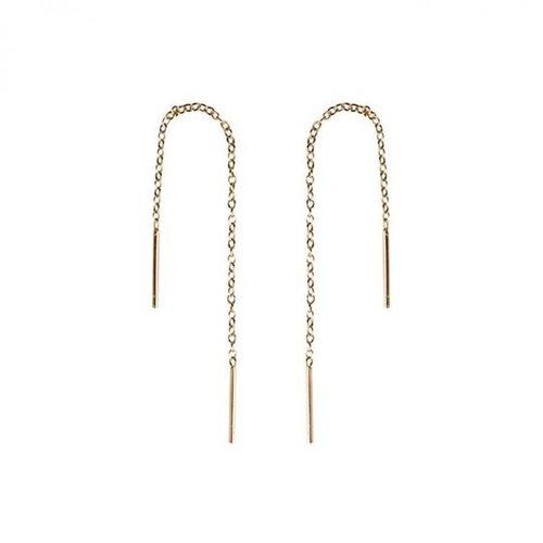 Oh So HIP Threader oorbellen gold plated 96 mm