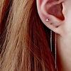 Threader oorbellen zilver