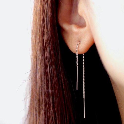 Oh So HIP Long threader oorbellen zilver