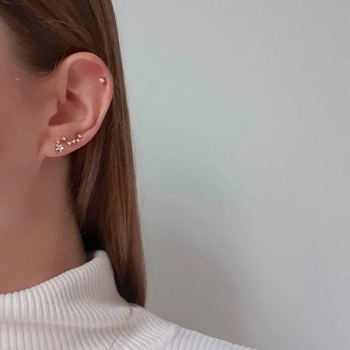 Oh So HIP Constellation ear climber zilver