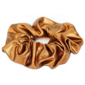 Love Ibiza Metallic scrunchie koper